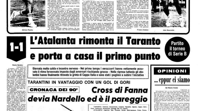 Taranto-Atalanta 1-1