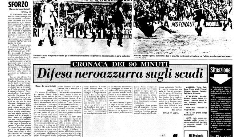 Massese-Atalanta 0-1