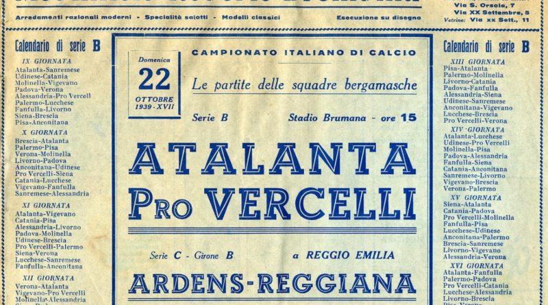 Atalanta-Pro Vercelli 3-1